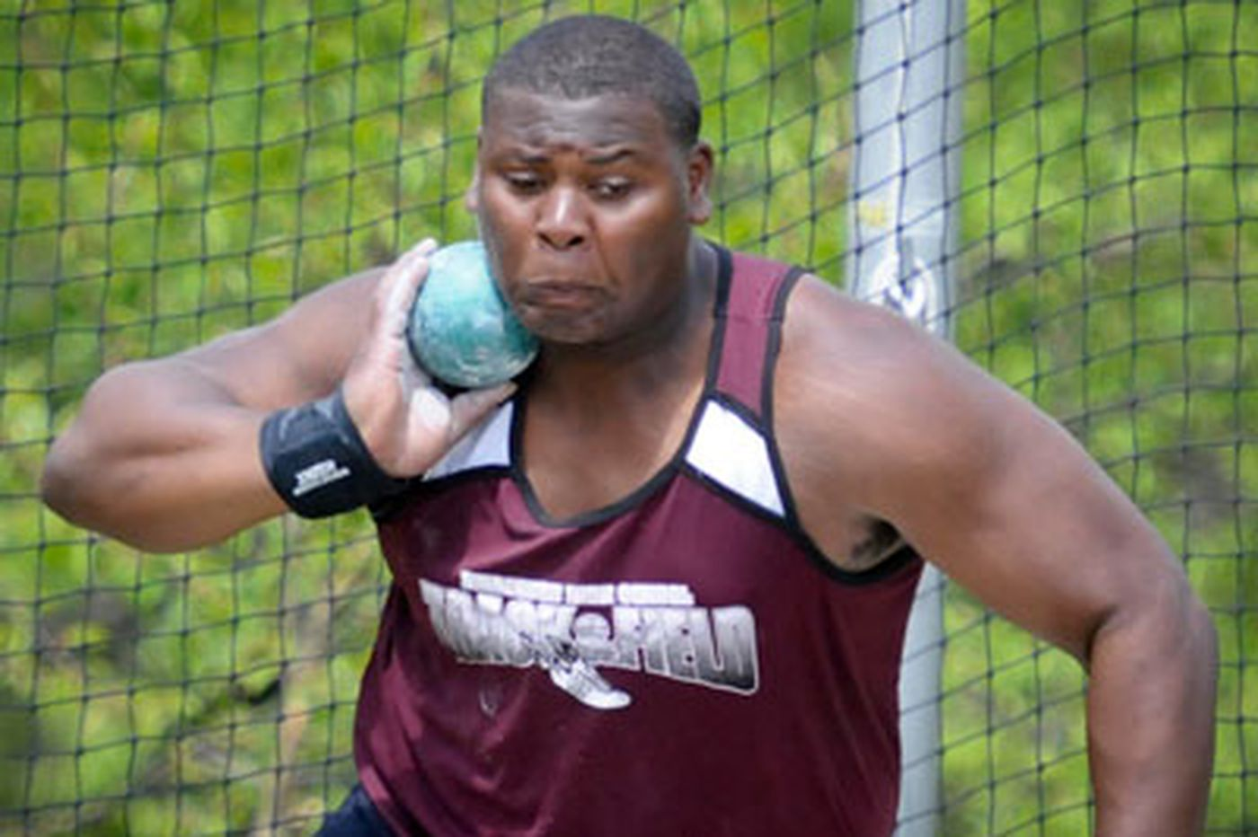 A studious star in the shot put