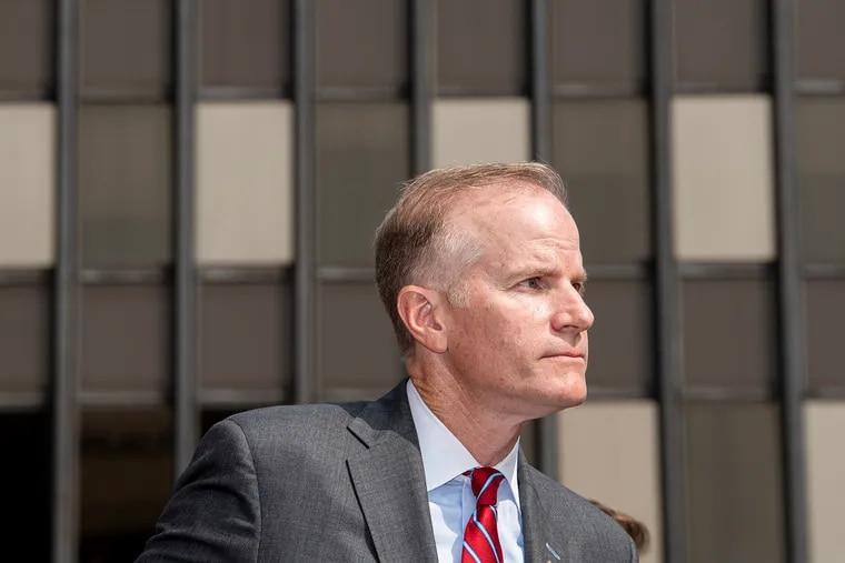 Then-U.S. Attorney Bill McSwain last September in Philadelphia.