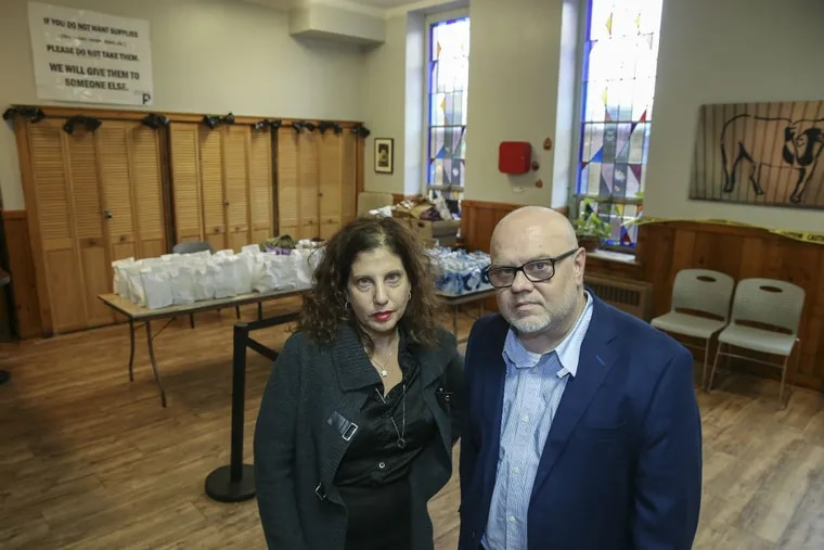 """Prevention Point in Kensington with Jose Benitez and Ronda Goldfein, of Safehouse's board here in the """"Drop in Room"""", Friday October 5, 2018."""