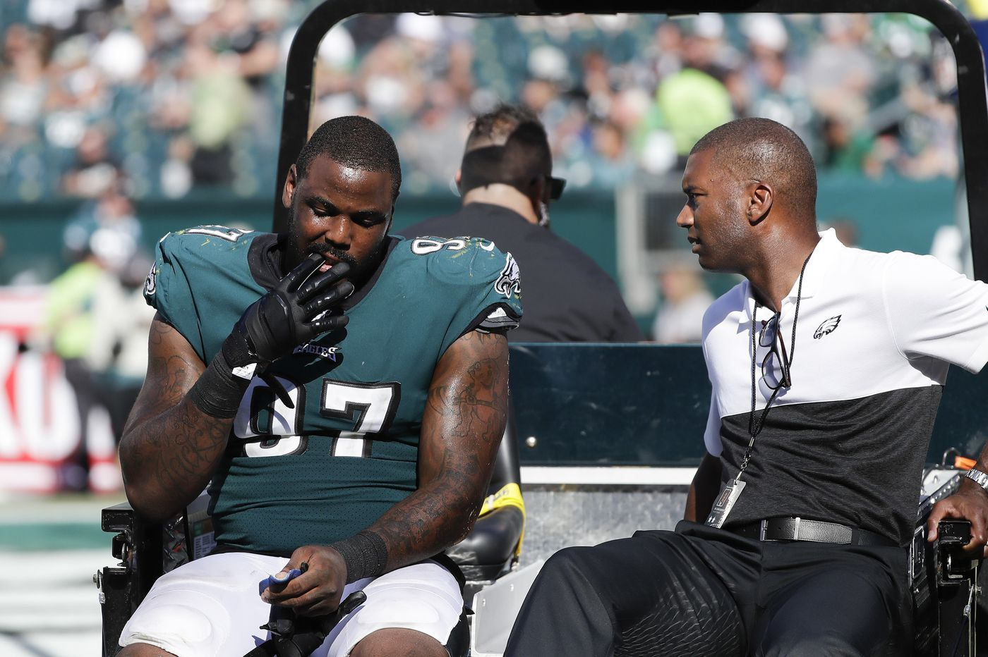 Eagles' Malik Jackson injured and in walking boot; MRI Monday