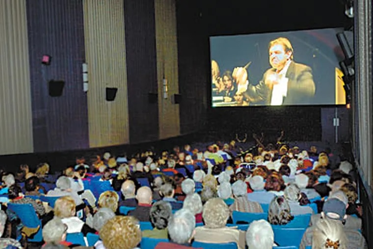 """Opera lovers turned out in force for the Bryn Mawr Film Institutes live simulcast of """"Don Carlo"""" from the Milan opera house La Scala. ( Ed Hille / Staff Photographer )"""