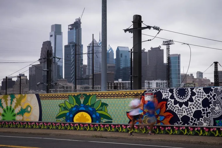 A view of Center City Philadelphia from the Mantua neighborhood in West Philly.