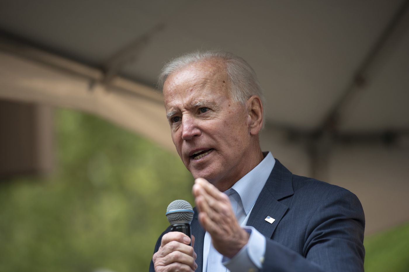Joe Biden comes to Philly rally Saturday as the Democratic front-runner. Can he keep it up as his rivals attack?