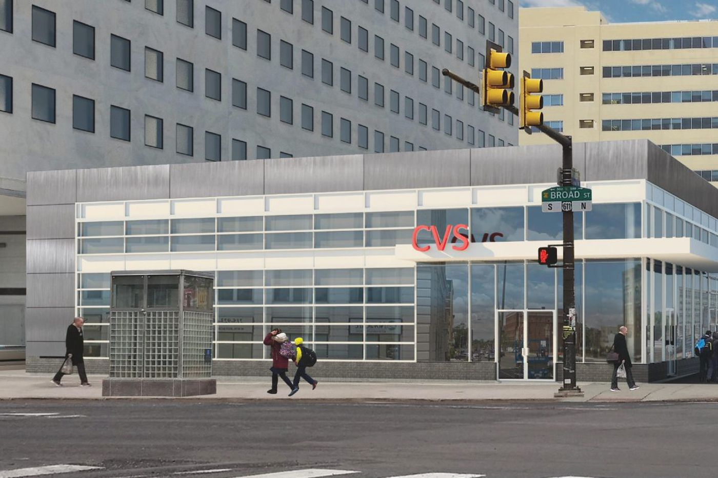 Retail plaza with CVS planned at former State Office Building apartments on North Broad Street