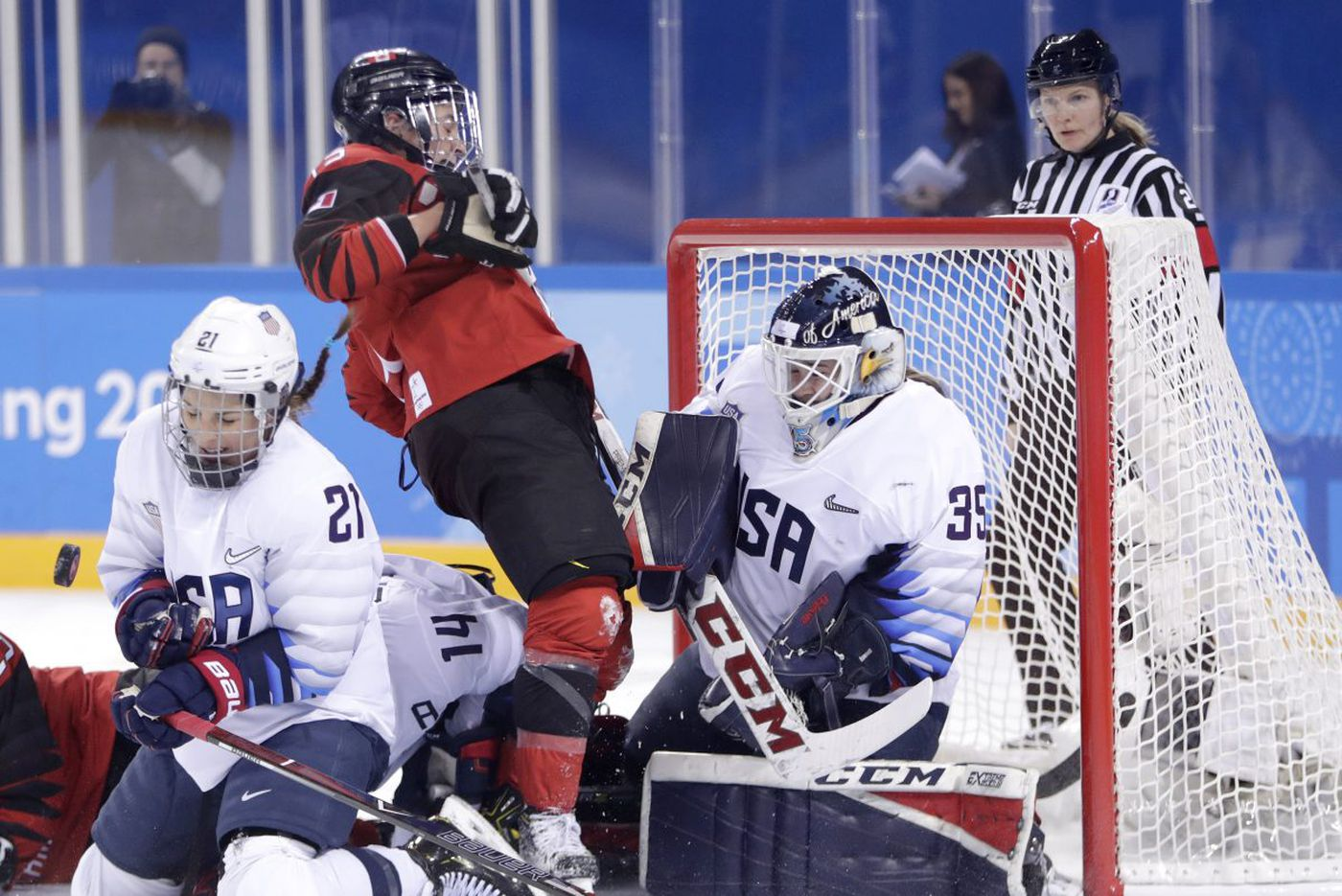 U.S.-Canada Olympics women's hockey gold medal game has local fans on edge