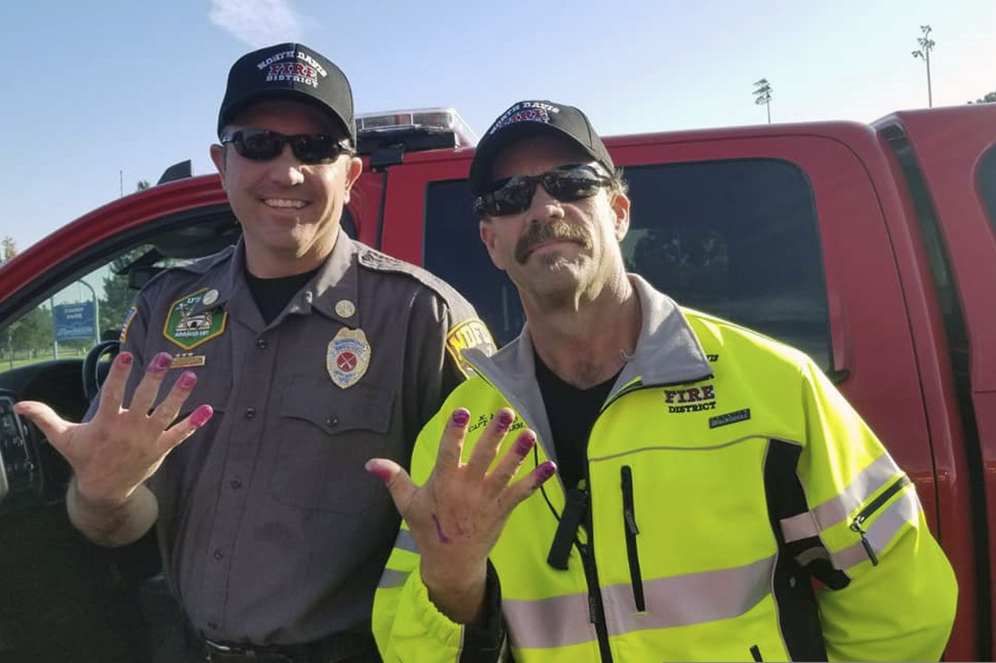 Firefighters come to the rescue of a screaming toddler — with nail polish