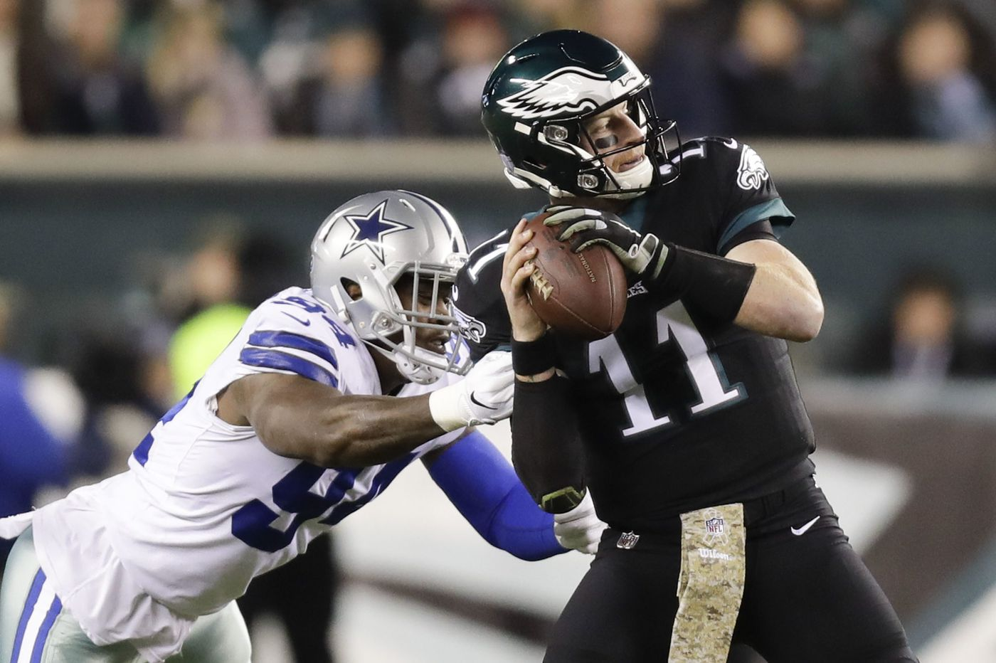 Eagles' Carson Wentz starts Cowboys prep for second time in one month, looking for a different result