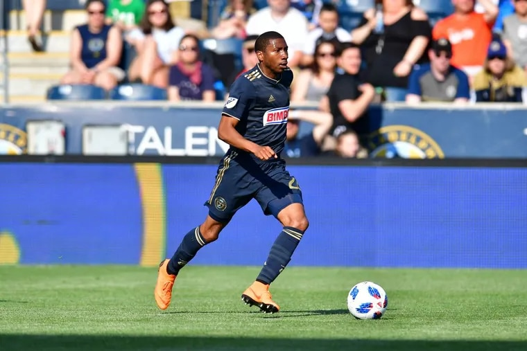 Ray Gaddis has returned to the Philadelphia Union's starting lineup, this time as a left back.
