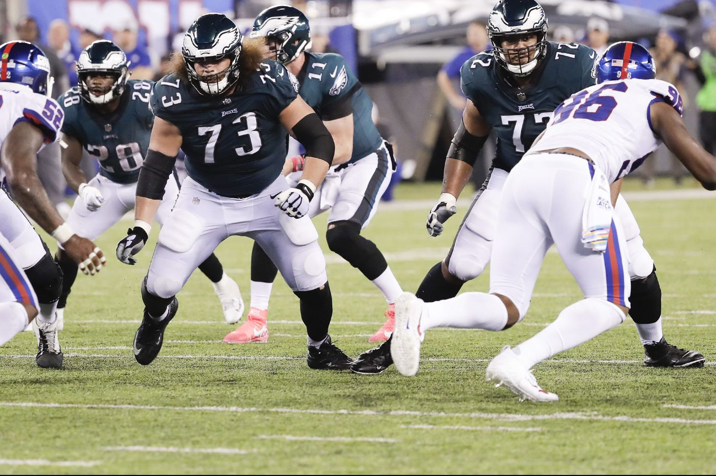 Eagles' Isaac Seumalo, the once-promising offensive lineman, is settling in as a starter