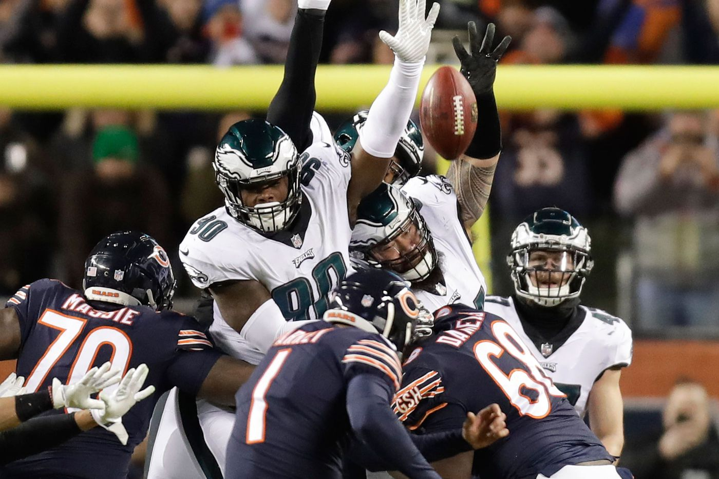 Eagles' Treyvon Hester tipped Cody Parkey's missed field goal in playoff win over Bears