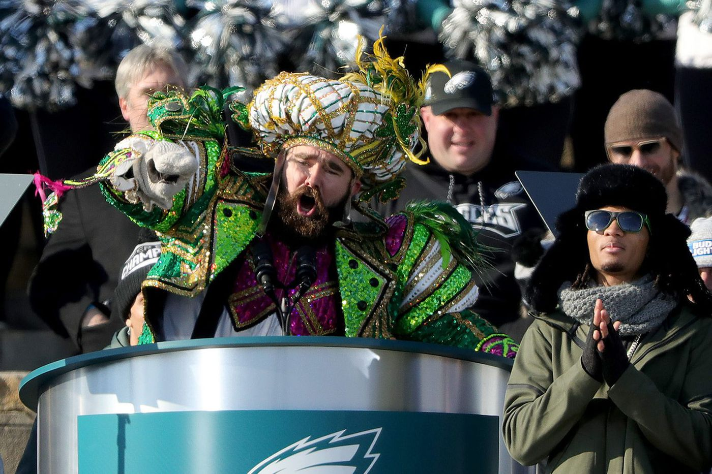 Jason Kelce's next act: He'll play sax Tuesday at the Mann with the orchestra