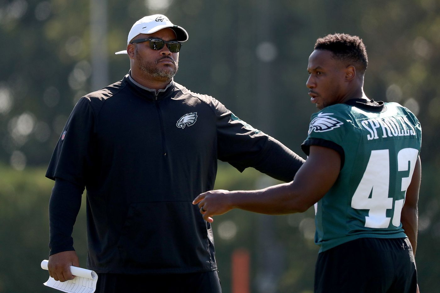 After being bypassed for promotion twice, Eagles RBs coach Duce Staley should be unhappy, but he's not