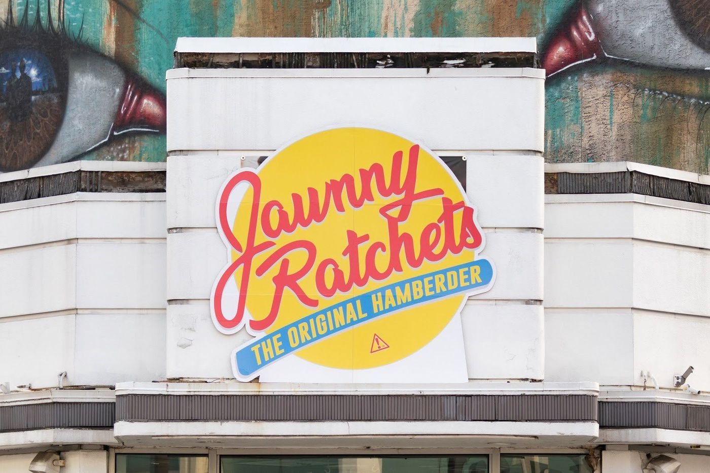 Jawnny Rachets? South Street's former Johnny Rockets gets a new sign, thanks to art installation