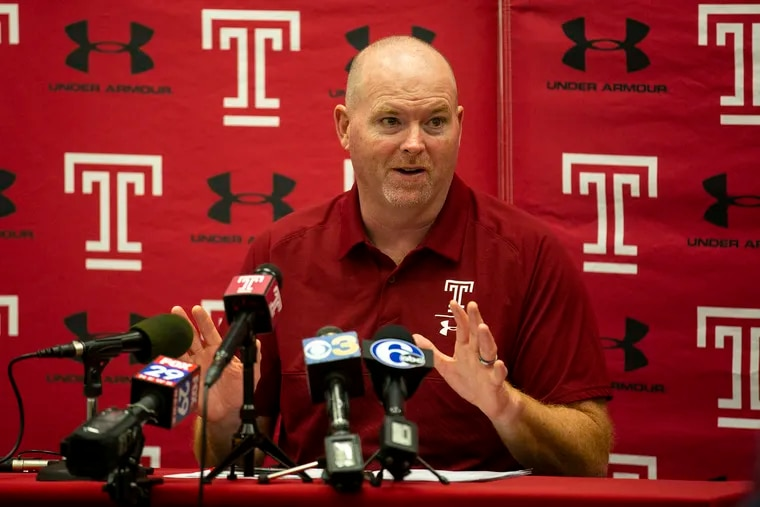 Temple coach Rod Carey speaks to reporters about his recruiting class 21.