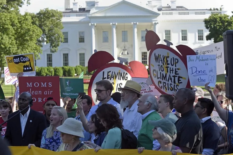 President Trump's decision to withdraw from the Paris climate change accord has sparked protests in Washington and elsewhere.