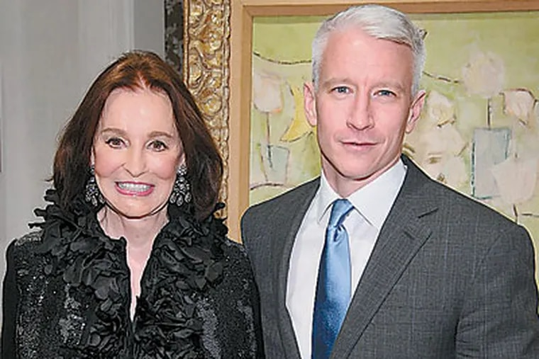 """Anderson Cooper with his mother, Gloria Vanderbilt.  Besides """"Anderson,"""" he hosts """"Anderson Cooper 360º"""" and often appears on """"60 Minutes."""""""
