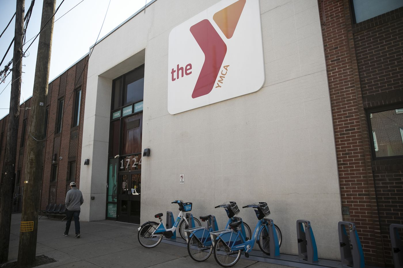 The YMCA building at 17th and Christian street in Philadelphia is photographed on Thursday, March 26, 2020. YMCA branches are closed due to the spread of COVID-19.
