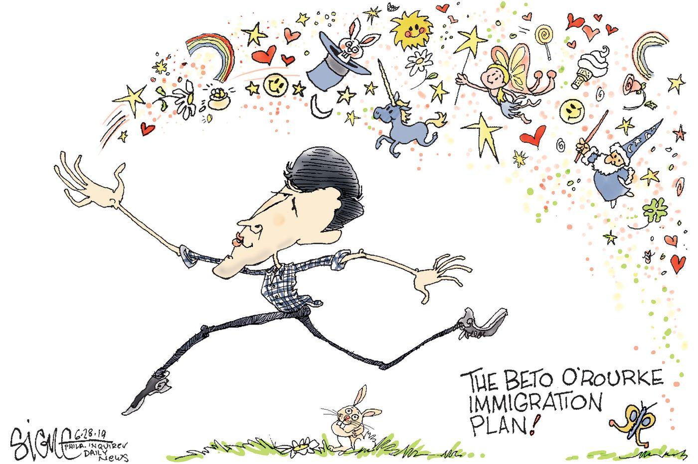 Political Cartoon: Beto O'Rourke's fantastic immigration plan