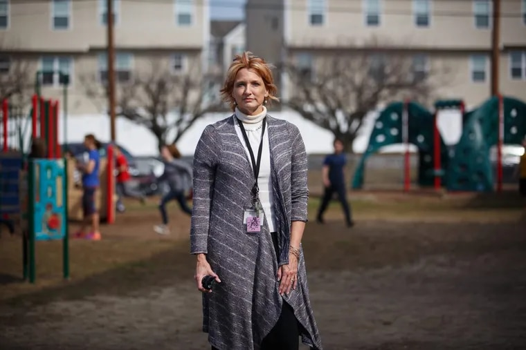 Mt. Ephraim Superintendent Leslie Koller-Walker, shown here on the playground of Mary Bray Elementary School, held an impromptu teacher-training on what to do in active shooter situations after the Parkland, Fla., school killings.