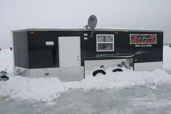 Need Super Bowl lodging? How about an ice fishing hut with Direct TV