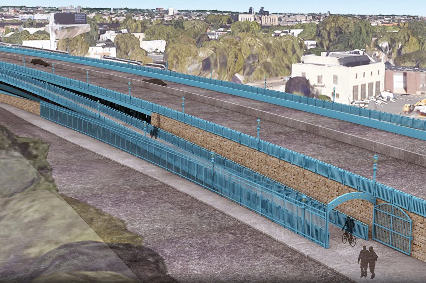 Bicycle ramp coming to Ben Franklin Bridge in 2019