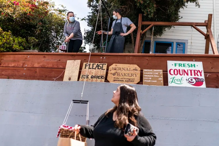 A growing number of San Francisco Bay area residents are supporting local small businesses such as Bernal Bakery. Chefs Daniella Banchero and Ryan Stagg began the pop-up, where you pick up your bread out of a lowered-down wicker basket.
