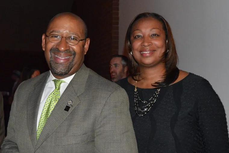 Desiree Peterkin-Bell with former Philadelphia Mayor Michael Nutter.