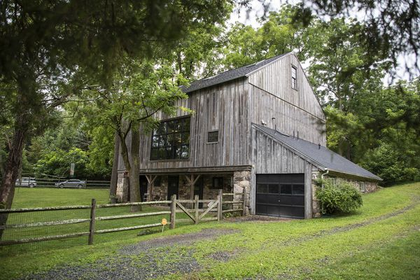 Chester County barn remade into an art studio and guesthouse