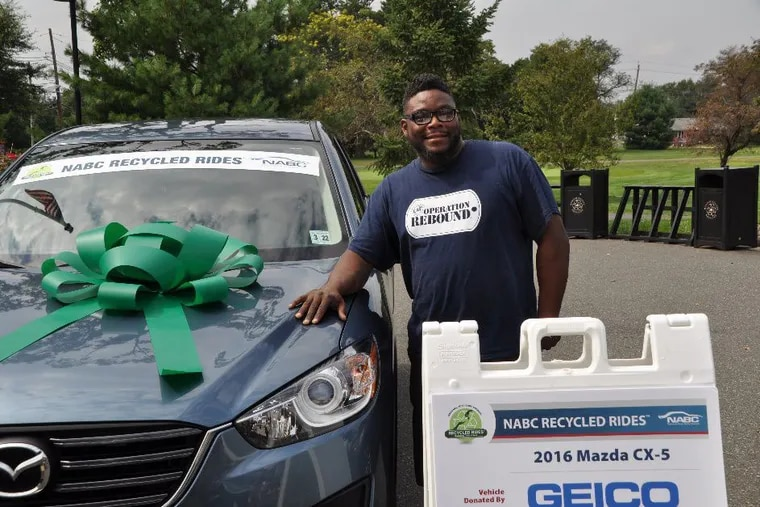 Frank Gadson received a 2016 Mazda CX-5 that was donated by GEICO and refurbished by Son's Collision Centers. Gadson was nominated for the Recycled Rides program by the New Jersey Veterans Network for his 22 years of service. He served as a combat medic over three deployments as part of Operation Iraqi Freedom.