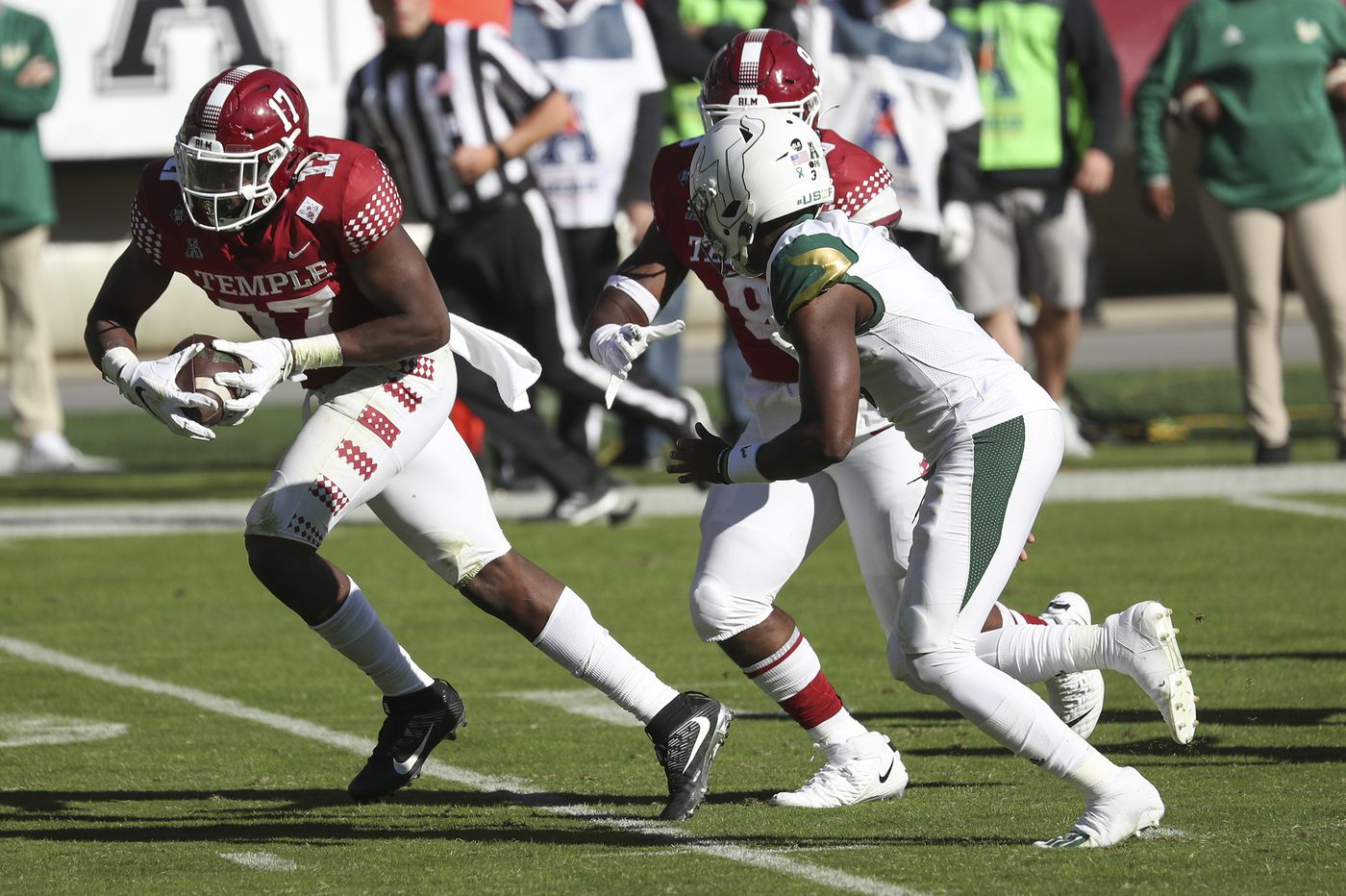 Temple defensive end Arnold Ebiketie is always ready for double duty