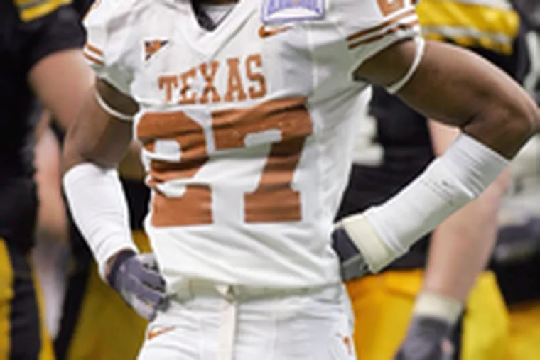 . . . as is Texas safety Michael Griffin.