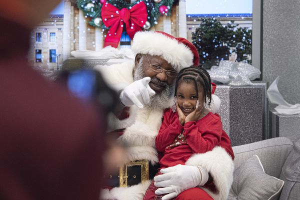 Black Santa spreads holiday cheer and inclusion in Fashion District