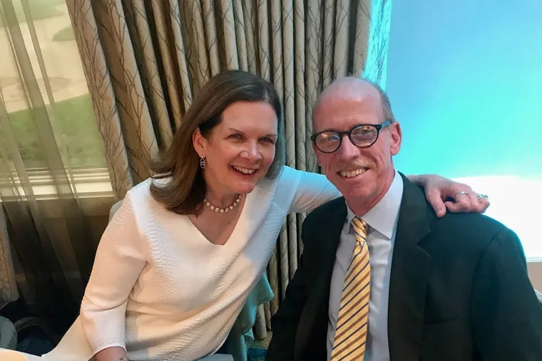 John McInerney, 61, was diagnosed with early-onset Alzheimer's disease in 2017.  He is shown here with his wife, Susan, in a May 2018 photo.