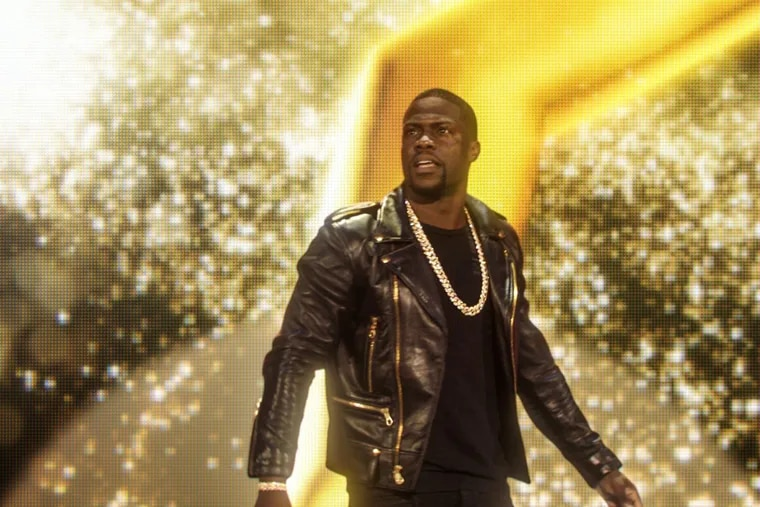 Kevin Hart appears in stand-up performance film 'Kevin Hart: What Now?' The special was recorded in front of more than 50,000 people at Lincoln Financial Field in Philadelphia in 2015.