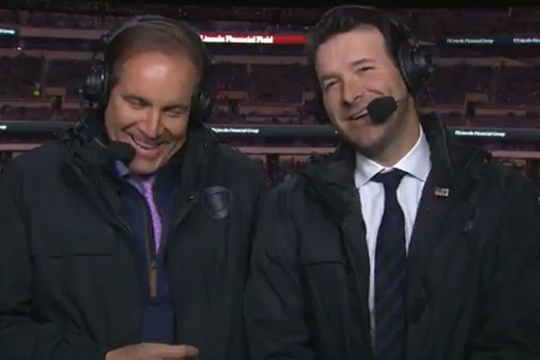 Tony Romo was great during Eagles-Patriots. Just don't order him a cheesesteak.