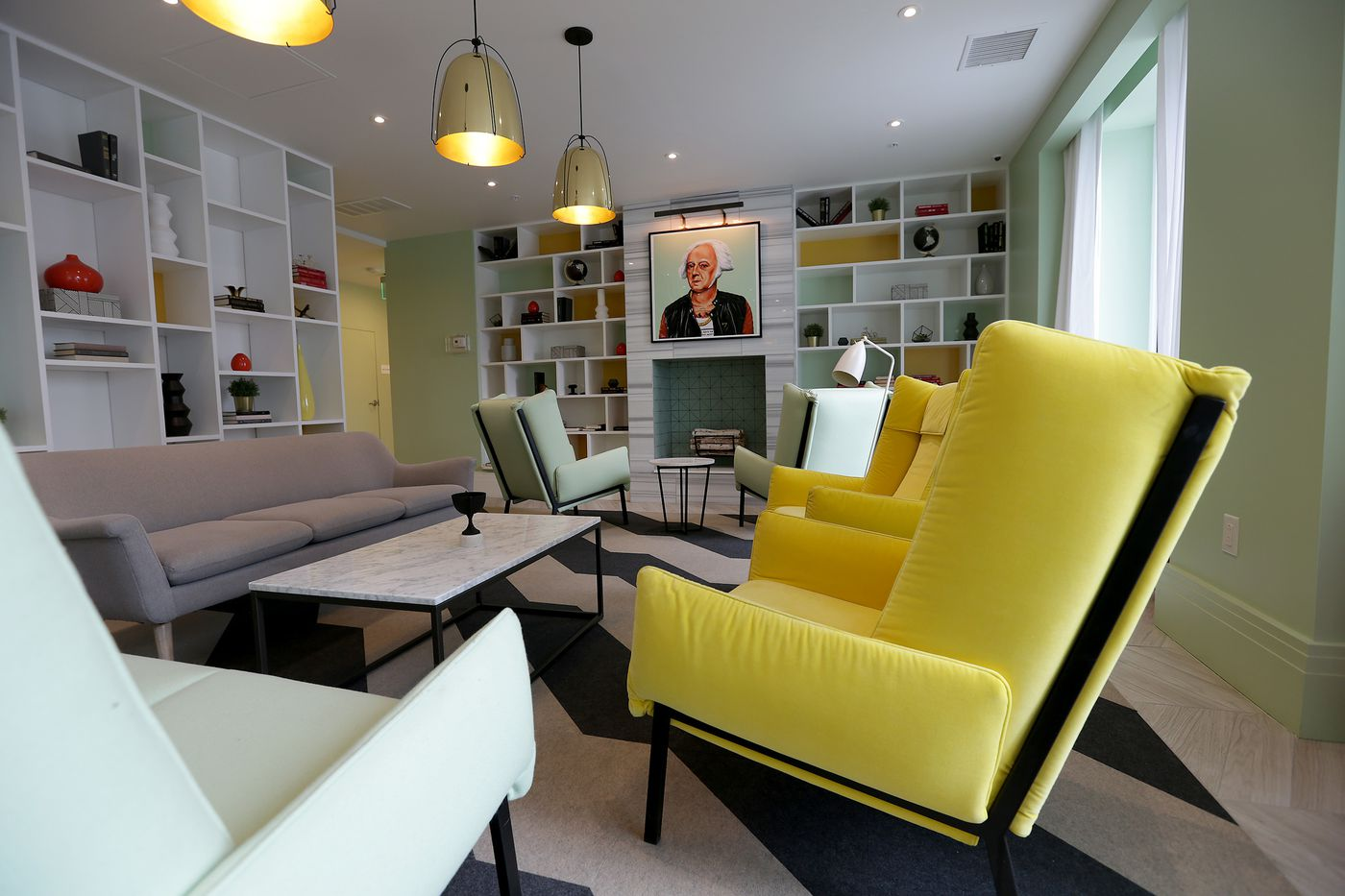 The Adams Lounge At Presidential City Apartment Complex In Total Provides David Maialetti