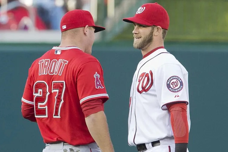 Bryce Harper and Mike Trout in the Phillies outfield? It's not as crazy as it sounds.