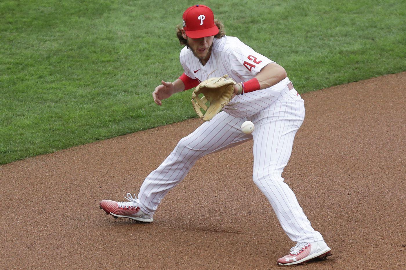 Phillies rookie third baseman Alec Bohm earning praise for defensive improvement