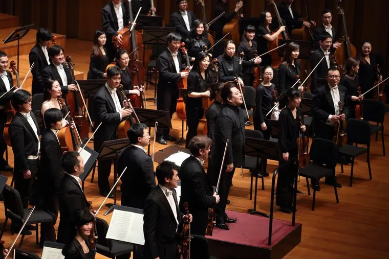 The National Centre for the Performing Arts Orchestra with chief conductor Lü Jia.