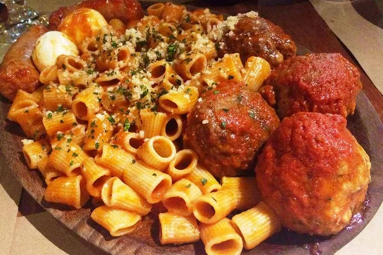 Sal's Sunday Supper from Osteria Jersey (Moorestown Mall, 400 New Jersey 38, Moorestown) (Photo by Craig LaBan)