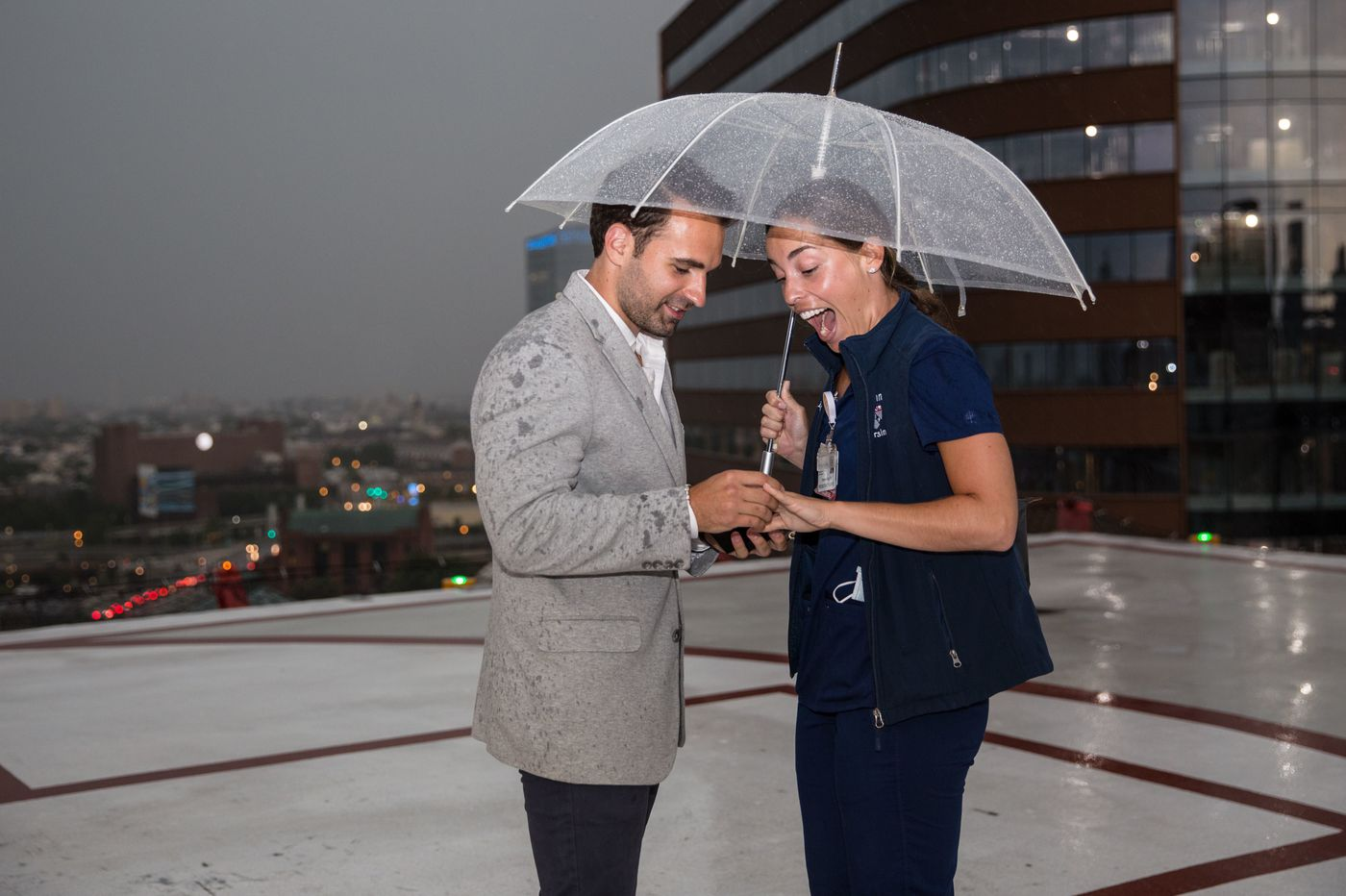 These Penn nurses got engaged on the helipad of the hospital where they fell in love