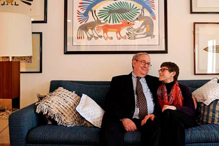 Mr. Hymerling and Rosie, his wife of 52 years, sit in their Haddonfield living room.