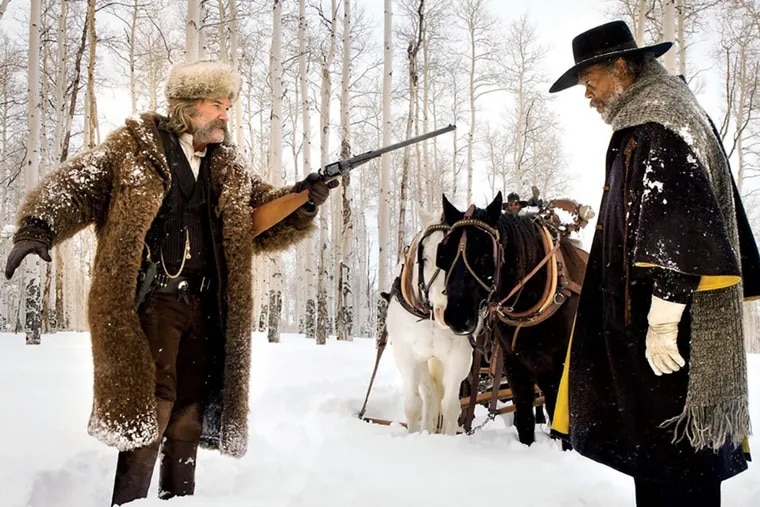 """Kurt Russell and Samuel L. Jackson in """"The Hateful Eight"""""""