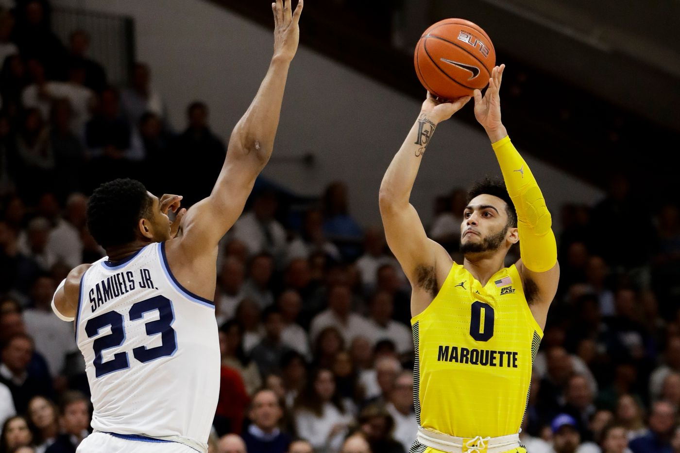 No. 10 Villanova ready to face prolific Marquette scorer Markus Howard for eighth time