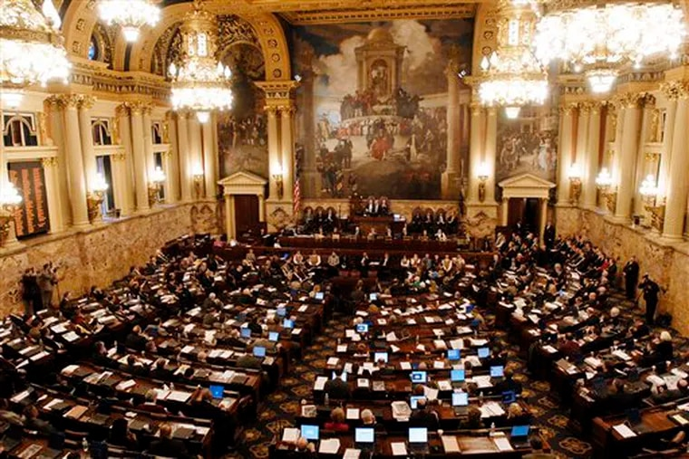 The Pennsylvania House of Representatives at the State Capitol in Harrisburg.