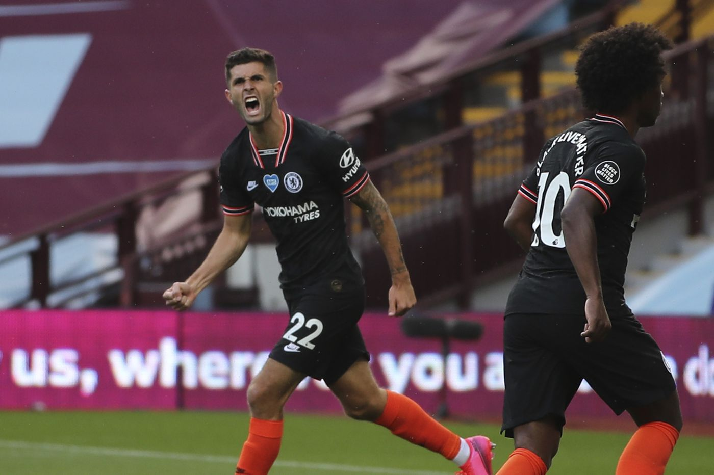 Christian Pulisic scores for Chelsea in first game since Jan. 1