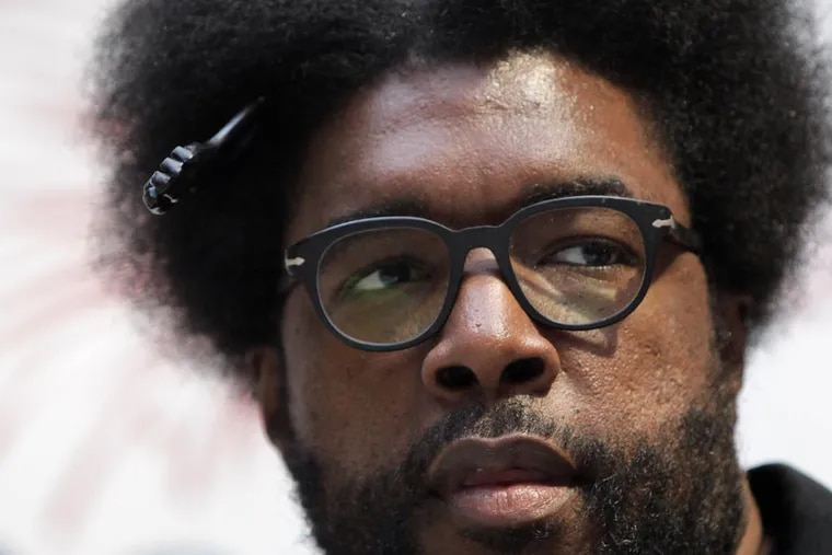 Ahmir Khalib Thompson, also known as Questlove of the Roots, attended an event at the Shops at Liberty Place in Philadelphia on May 5, 2014 to announce the Wawa Welcome America! entertainment lineup for 2014 festival . ( DAVID MAIALETTI / Staff Photographer )