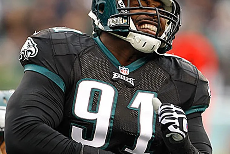 Eagles defensive tackle Fletcher Cox recorded five tackles in his first career start. (Ron Cortes/Staff Photographer)