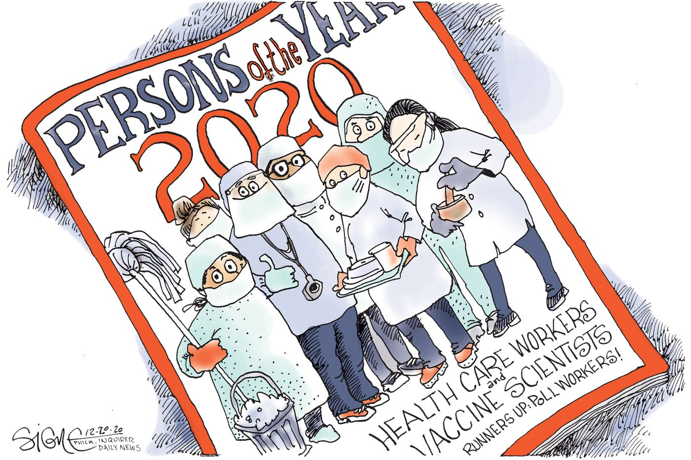 Political Cartoon: They got us through 2020!