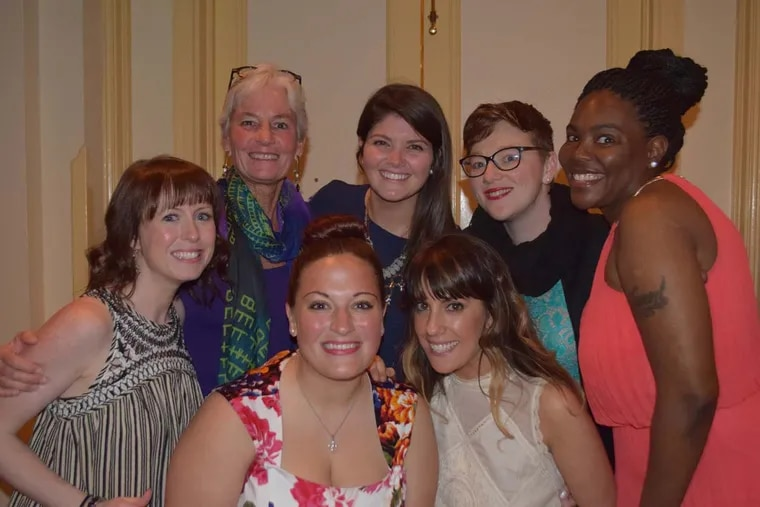 Gesu teachers (front row, left to right) Dana Gilbert, Amanda Rice, Erin Williamson, and (back row, left to right) Mary Ryder, Mary Liva, Sarah Weir and Tammi Crummy. MAGGIE HENRY CORCORAN